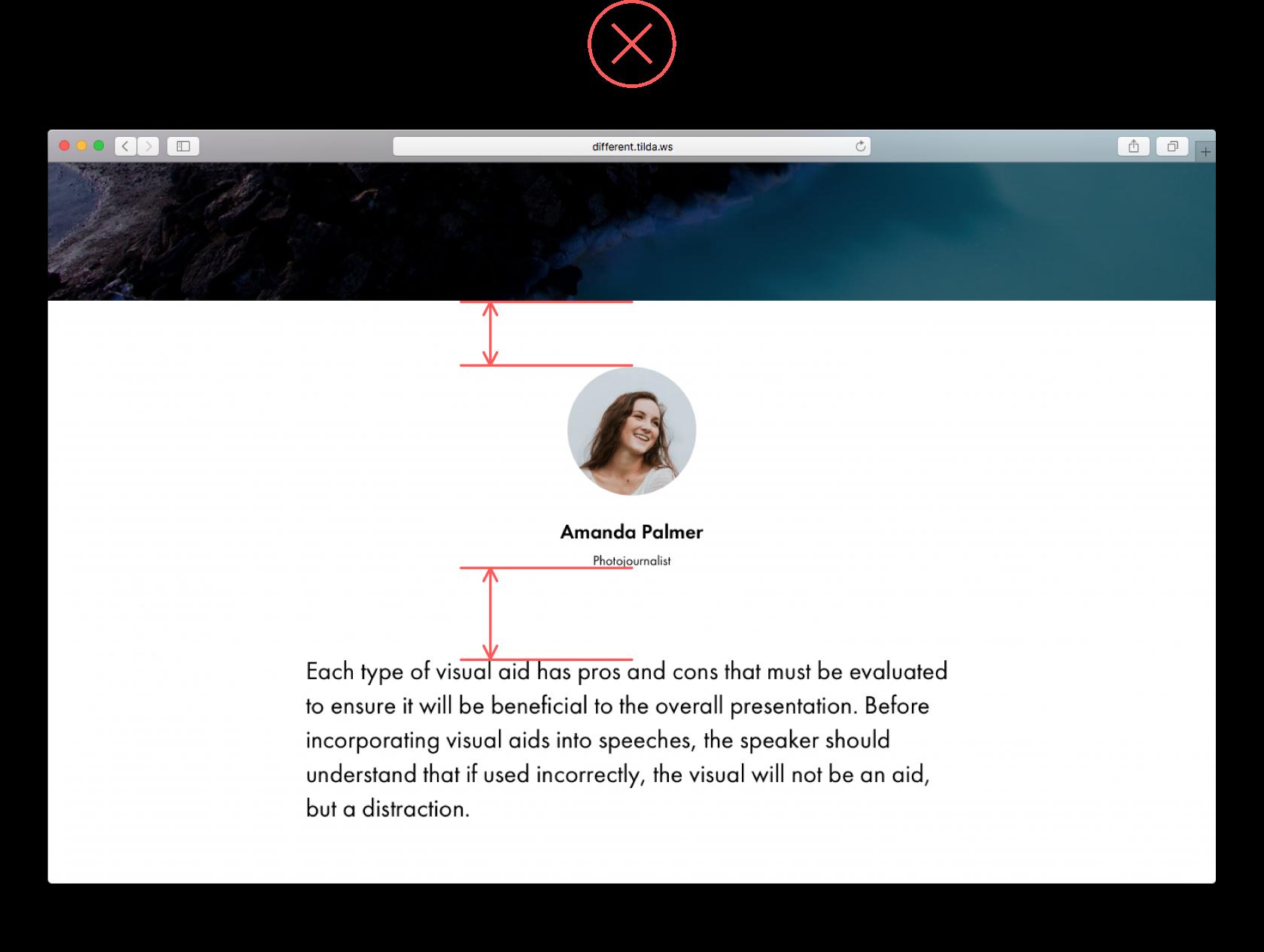 website spacing
