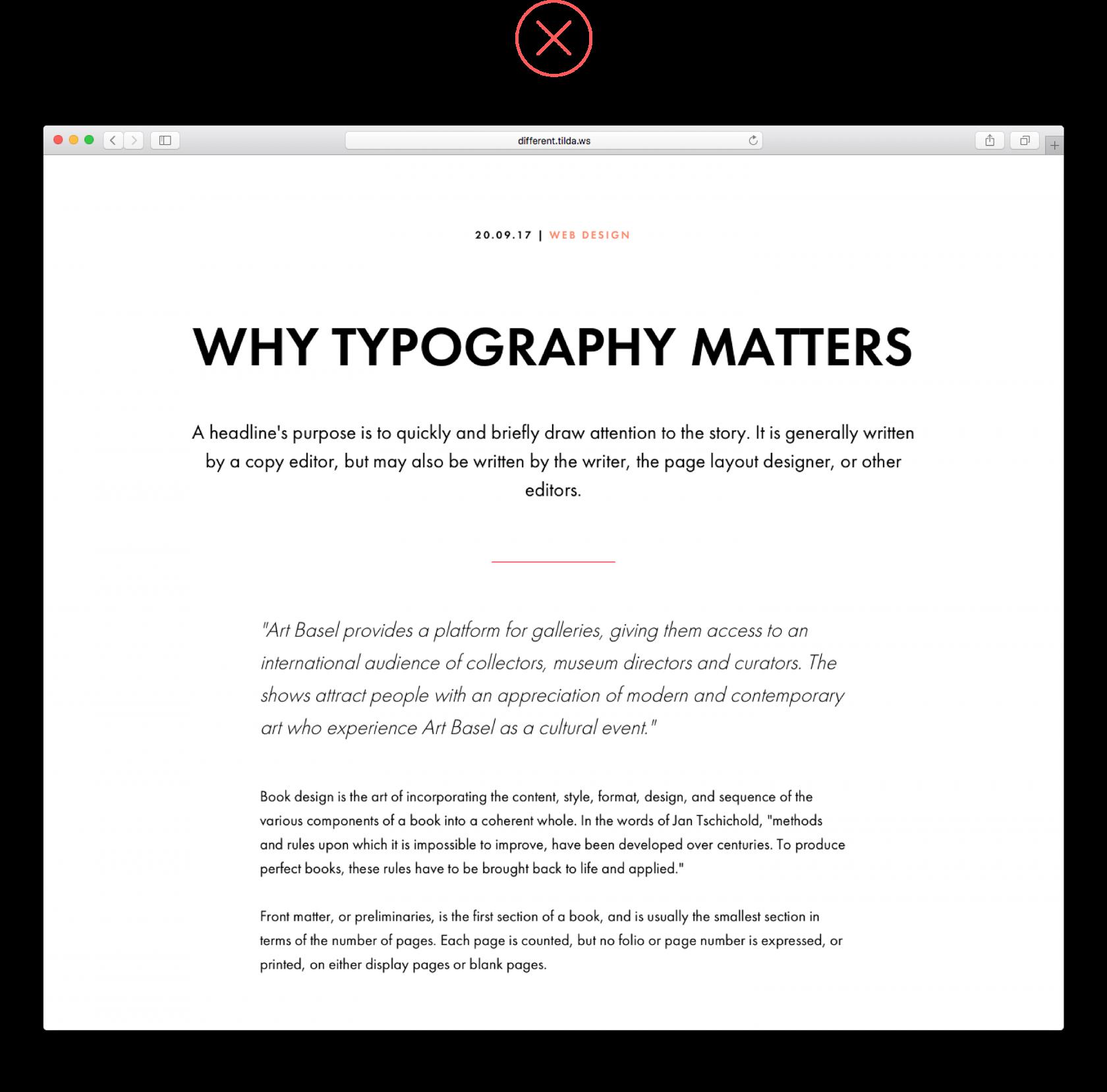 heading typography