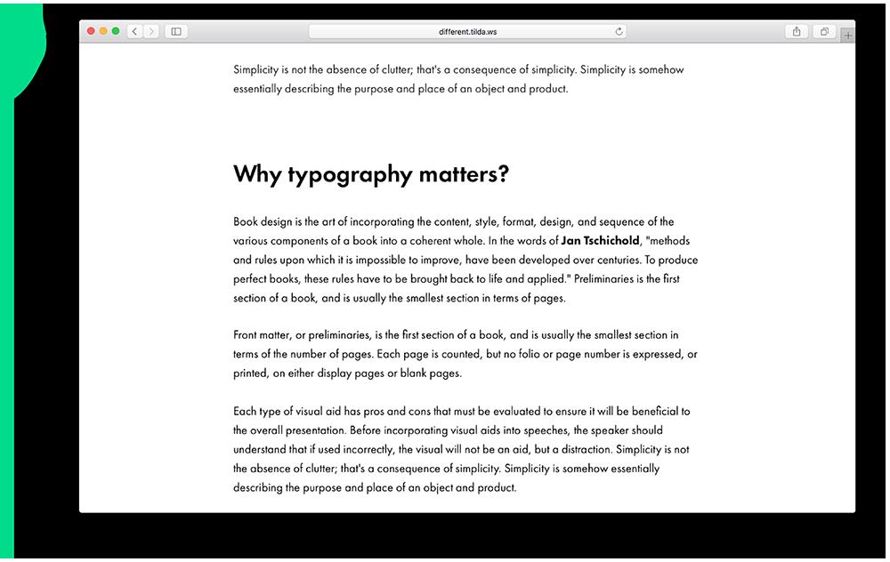 correct typography