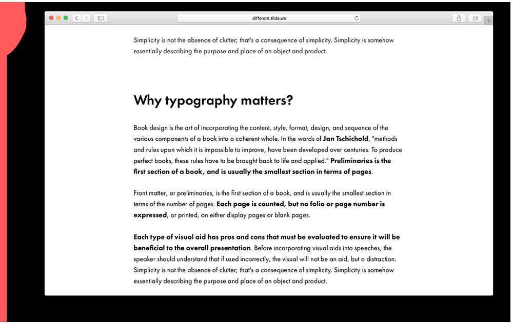 copy typography