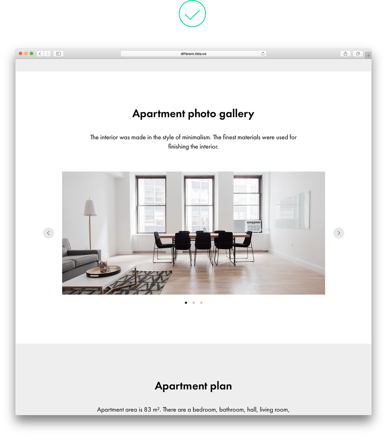 webpage gallery